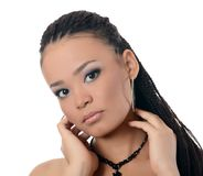 The girl the mulatto with a beautiful make-up Royalty Free Stock Photography