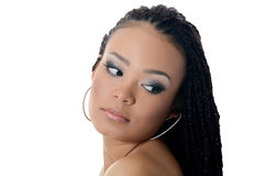 The girl the mulatto with a beautiful make-up Stock Photos