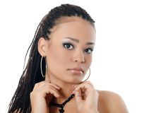 Girl the mulatto with a beautiful make-up Stock Photo
