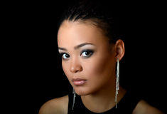 Girl the mulatto with a beautiful make-up. The girl the mulatto with beautiful make-up Royalty Free Stock Images