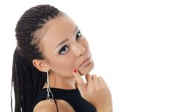 Girl the mulatto with a beautiful make-up Stock Photography