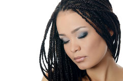 Girl the mulatto with a beautiful make-up Stock Image