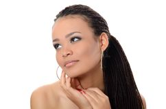 The girl the mulatto with a beautiful make-up. The girl the mulatto with beautiful make-up Royalty Free Stock Photography
