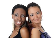 The girl the mulatto and the black girl. The girl the mulatto and black girl Royalty Free Stock Images