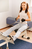 Girl on multi gym Royalty Free Stock Photography