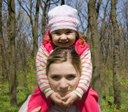 Girl with mum. Smiling girl with her mother Stock Photo