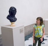 Girl in museum Royalty Free Stock Photography