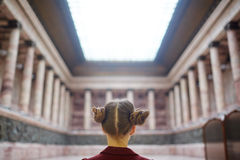 Girl in museum Royalty Free Stock Image