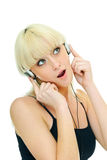 Girl and music Royalty Free Stock Photos