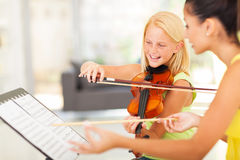 Girl music class Royalty Free Stock Images