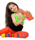 A girl with musical instrument Royalty Free Stock Photo