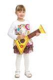 Girl with musical instrument Stock Photography