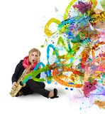 Girl musician Royalty Free Stock Images