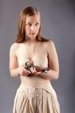 Girl musket Stock Photography
