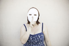 Girl mysterious mask Royalty Free Stock Photos