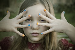 Girl nail polish colors Royalty Free Stock Photo