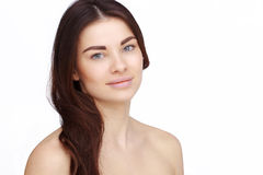Girl with naked shoulders Royalty Free Stock Photography