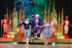 A girl named Marihen Stahlbaum and Nutcracker Royalty Free Stock Image