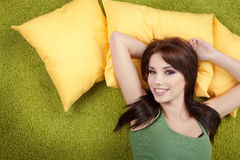 Girl napping on pillow. Royalty Free Stock Photo