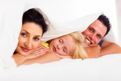 Free Girl Napping With Parents Stock Photos - 28522493