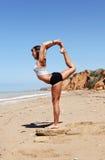 Girl in Nataradzha yoga pose Stock Photo