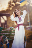 Girl in national clothes Royalty Free Stock Photo