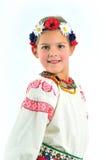 Girl national costume. Girl in Ukrainian national costume Stock Image