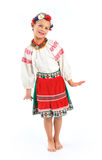 Girl national costume Stock Photos