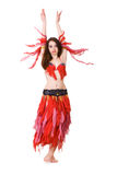 Girl in national costume Stock Photography