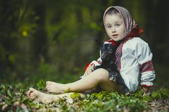 Girl in national costume Royalty Free Stock Photo