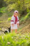 Girl in national costume Royalty Free Stock Photography