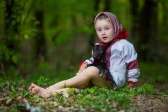 Girl in national costume Stock Image