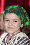 Girl in National Romanian costume Stock Photography