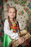 girl in russian costume Royalty Free Stock Photography