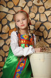 Girl in russian costume Royalty Free Stock Photo