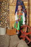 Girl in russian costume Stock Image