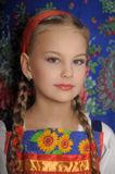 Girl in russian costume Stock Photo