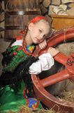 Girl in russian costume Royalty Free Stock Image