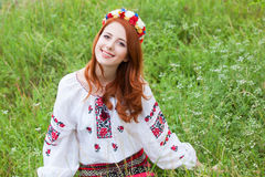 Girl in national ukrainian clothes Royalty Free Stock Image