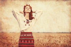 Girl in national ukrainian clothes Royalty Free Stock Photos