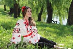 Girl in the national Ukrainian costume Stock Image