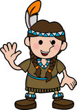 girl Native American costume Royalty Free Stock Photos