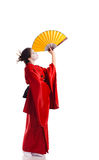 The girl in native costume of japanese geisha Royalty Free Stock Images