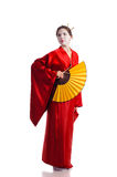 The girl in native costume of japanese geisha Stock Photo