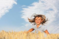 Girl on natural background Stock Image