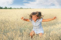 Girl on natural background Royalty Free Stock Image