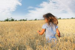 Girl on natural background Stock Photo