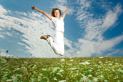 Girl in Nature Royalty Free Stock Images
