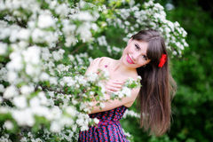 Girl in nature Stock Photography