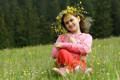 Girl in nature Stock Photo